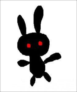 黒いうさぎ